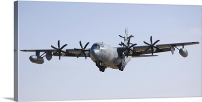 An EC-130J Commando Solo aircraft prepares to land