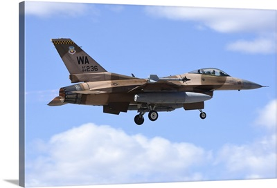 An F-16C Fighting Falcon from 64th Aggressor Squadron of US Air Force