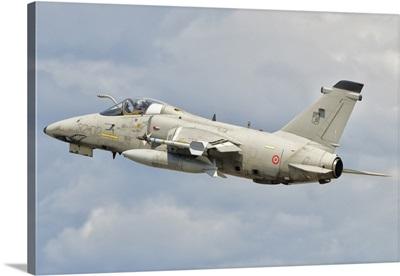 An Italian Air Force AMX fighter aircraft