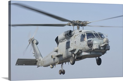 An MH-60R Seahawk in flight over the Persian Gulf
