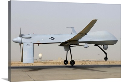 An MQ-1 Predator prepares for takeoff