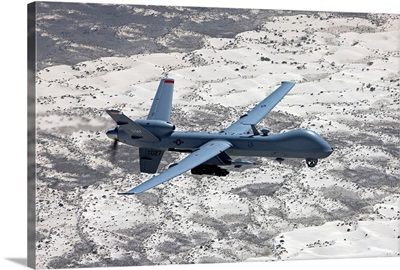 An MQ-9 Reaper flies a training mission over Southern New Mexico