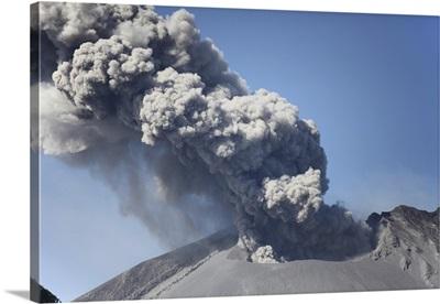 Ash cloud rising from Sakurajima volcano, Japan