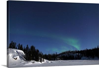 Aurora over Vee Lake Yellowknife Northwest Territories Canada