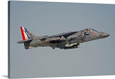 AV-8B Harrier flying over Nellis Air Force Base, Nevada