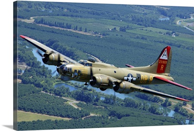 B-17 Flying Fortress flying over Concord, California