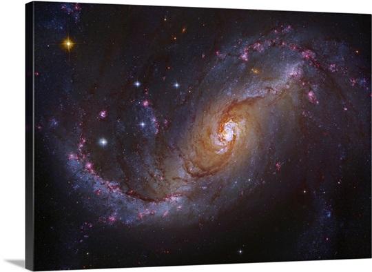 Barred Spiral Galaxy NGC 1672 in Dorado