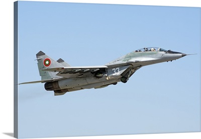 Bulgarian Air Force MiG-29UB Fulcrum taking off