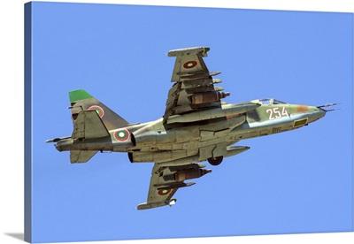 Bulgarian Air Force Su-25 taking off