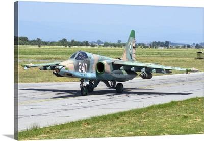 Bulgarian Air Force Sukhoi Su-25K aircraft