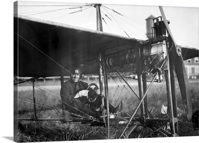 Charles Murphy Seated In A Monoplane