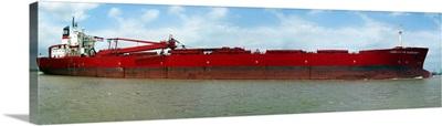 Christoffer Oldendorff transiting through Buffalo Bayou toward the Port of Houston Texas