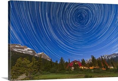 Circumpolar star trails over Banff National Park, Alberta, Canada