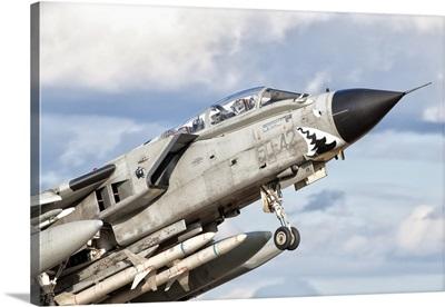 Close-up of an Italian Air Force Panavia Tornado ECR