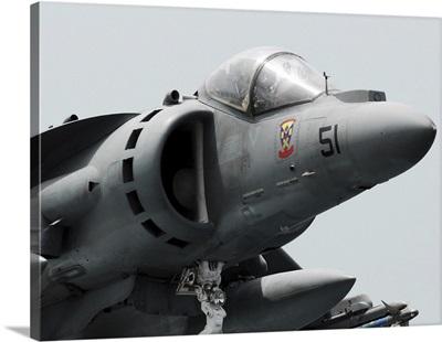 Close-up view of an AV-8B Harrier II