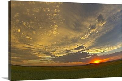 Cloudscape at sunset, Alberta, Canada