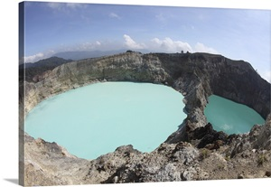 Colourful Crater Lakes Of Kelimutu Volcano Flores Island