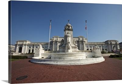 Columbus Fountain at Union Station, Washington D.C., USA