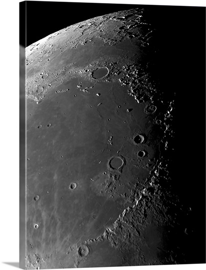 Craters Copernicus Plato Eratosthenes and Archimedes near Montes Apenninus