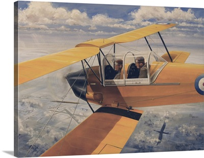De Havilland DH.82 Tiger Moth basic trainer biplane from the 1930's