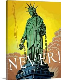 Digitally restored vector war propaganda poster. Never!