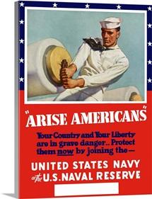 Digitally restored vector war propaganda poster.  Protect them now