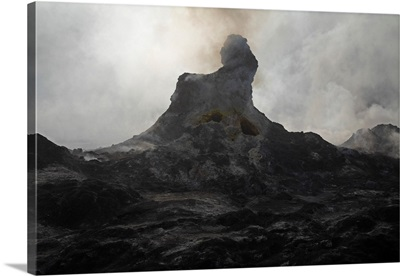 Erta Ale steaming Hornito Danakil Depression Ethiopia