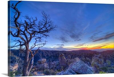 Evening twilight at the Chiricahuas National Monument, Arizona