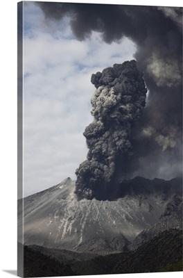 Explosive eruption of Sakurajima volcano, Japan