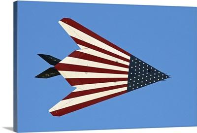 F-117 Nighthawk flying over California