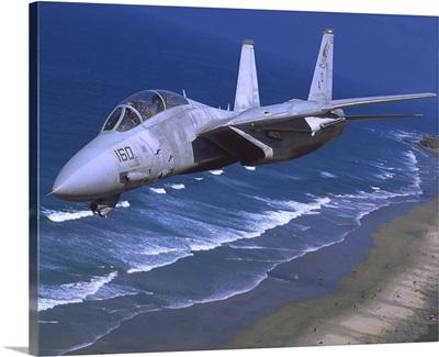 F-14 Tomcat flying over San Diego, California