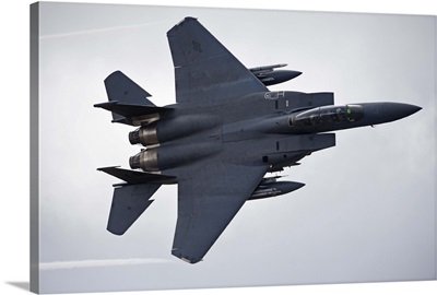 F-15E Strike Eagle low flying over North Wales