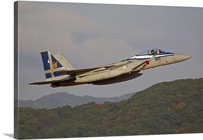 F-15J Eagle of the Japan Air Self Defense Force's Hiko Kyodatai aggressor squadron