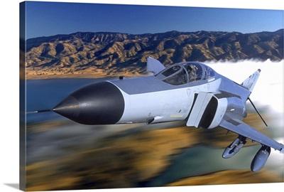 F4 Phantom flying over Ukiah, California