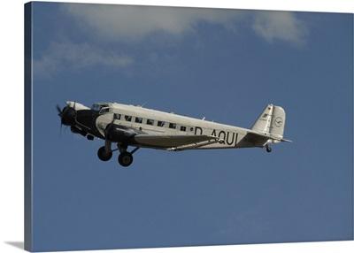 German Junkers Ju 52 flying over Duxford, England