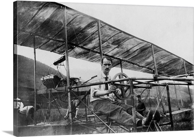 Glenn Curtiss, Founder Of The U.S. Aircraft Industry, Sitting In His Biplane
