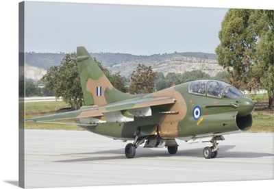 Hellenic Air Force TA-7 Corsair II at Araxos Air Base, Greece
