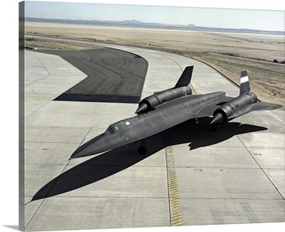 High angle view of a SR 71A Blackbird