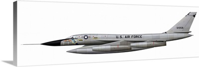 Illustration of a B-58 Hustler of the U.S. Air Force