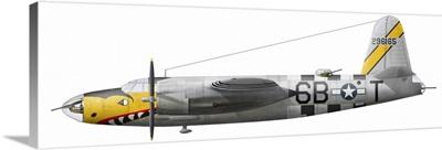 Illustration of a Martin-B-26 Marauder