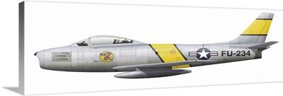 Illustration of a North American F-86F Sabre