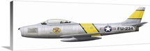 Illustration of a North American F-86F Sabre