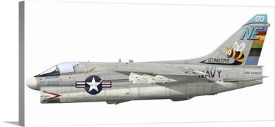 Illustration of an A-7E Corsair II NE-300