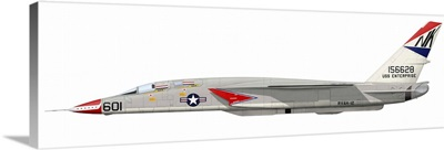 Illustration of an RA-5C Vigilante reconnaissance aircraft