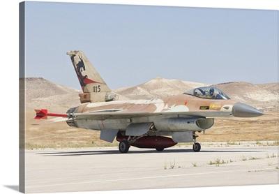 Israeli Air Force F-16 at Nevatim Air Base, Israel