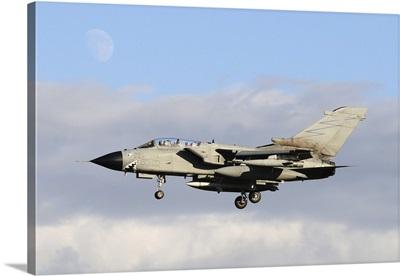 Italian Air Force Tornado ECR prepares for landing