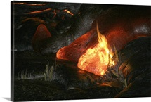 Kilauea Pahoehoe lava flow Big Island Hawaii