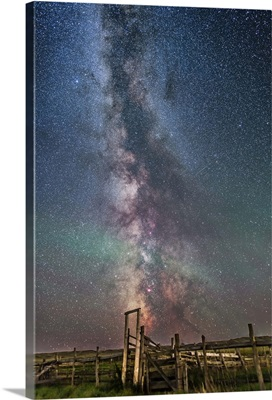 Milky Way over an old ranch corral