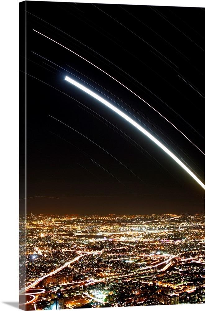Moon and Jupiter conjunction above Tehran, Iran