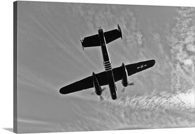 North American B-25G Mitchell bomber in flight near Mesa, Arizona